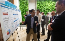 Suresh Subramaniam presenting his poster during the 2015 Innovation Competition